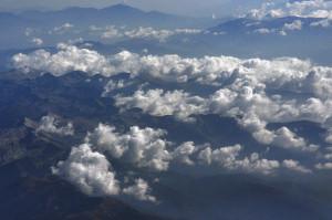 Болгарские горы с окна самолета.