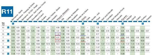 расписание поезда R11