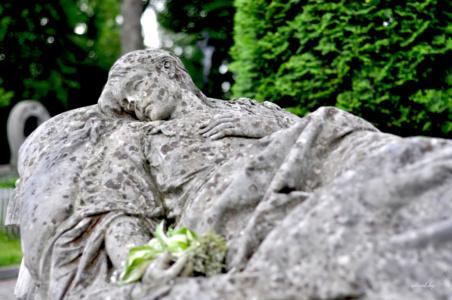 На одре. Лычаковское кладбище. Львов.