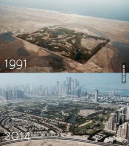Как быстро построились Арабские Эмираты